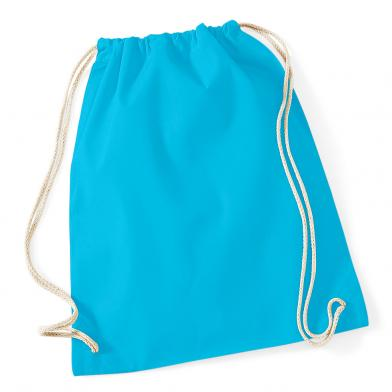 Cotton Gymsac In Surf Blue
