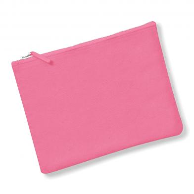 Canvas Accessory Pouch In True Pink