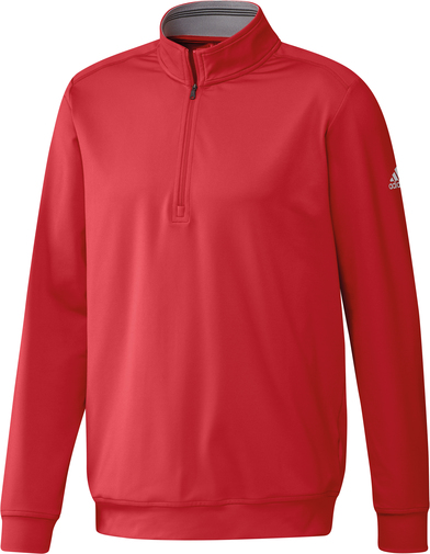 Classic Club � Zip Sweater In Collegiate Red