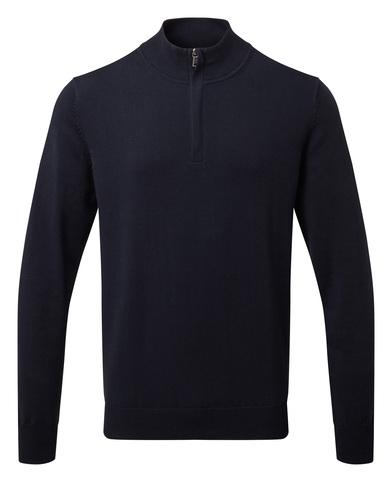 Asquith & Fox - Men's Cotton Blend  Zip Sweater