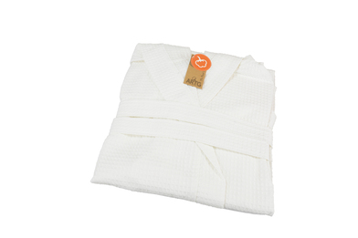 A&R Towels - ARTG Waffle Bathrobe With Hood