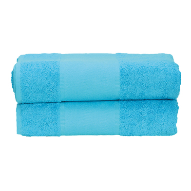 ARTG PRINT-Me Guest Towel In Aqua Blue