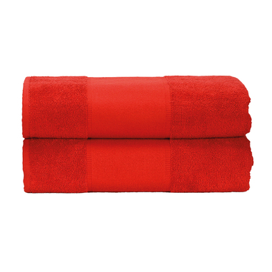ARTG PRINT-Me Guest Towel In Fire Red*