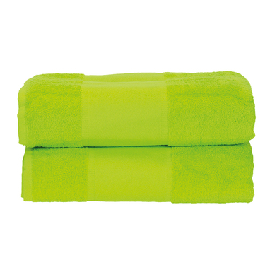ARTG PRINT-Me Guest Towel In Lime Green*