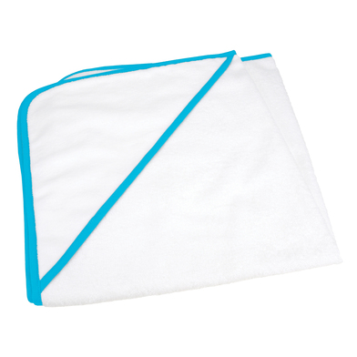 ARTG Babiezz All-over Sublimation Hooded Baby Towel In White/Aqua Blue