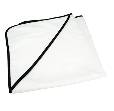 ARTG Babiezz All-over Sublimation Hooded Baby Towel In White / Black