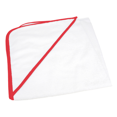 ARTG Babiezz All-over Sublimation Hooded Baby Towel In White/Fire Red