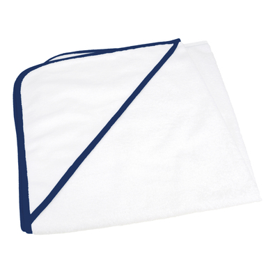 ARTG Babiezz All-over Sublimation Hooded Baby Towel In White/French Navy