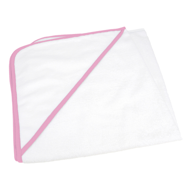 ARTG Babiezz All-over Sublimation Hooded Baby Towel In White/Light Pink