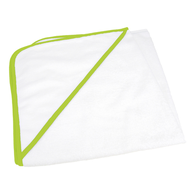 ARTG Babiezz All-over Sublimation Hooded Baby Towel In White/Lime Green