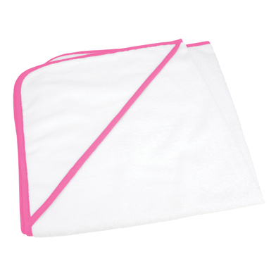 ARTG Babiezz All-over Sublimation Hooded Baby Towel In White / Pink