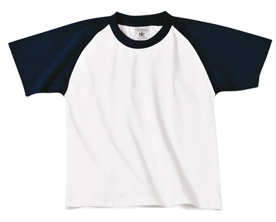 B&C Baseball /kids In White / Navy