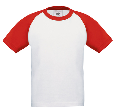 B&C Baseball /kids In White / Red