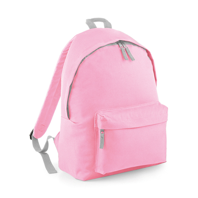 Junior Fashion Backpack In Classic Pink/Light Grey