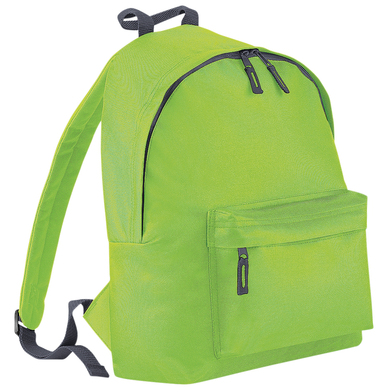 Junior Fashion Backpack In Lime Green/Graphite grey