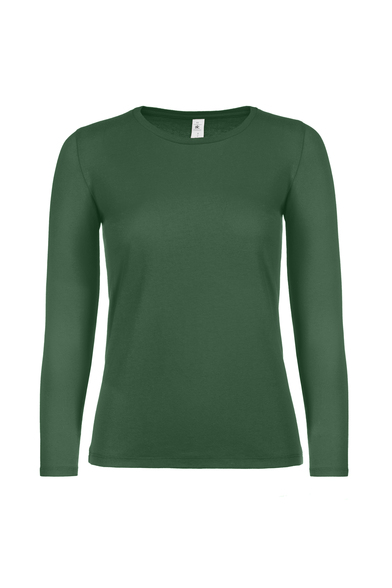 B&C #E150 Long Sleeve /women In Bottle Green