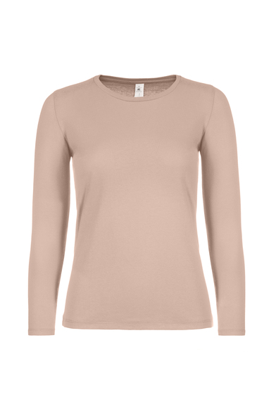 B&C #E150 Long Sleeve /women In Millennial Pink