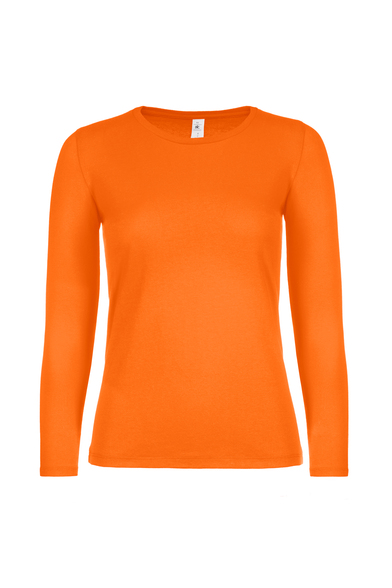 B&C #E150 Long Sleeve /women In Orange