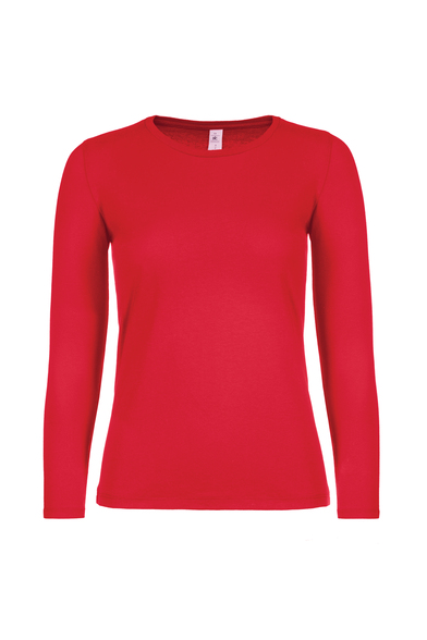 B&C #E150 Long Sleeve /women In Red