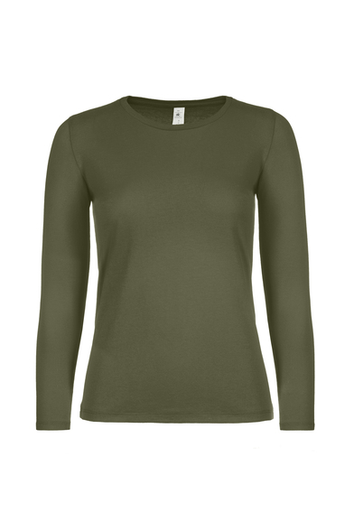 B&C #E150 Long Sleeve /women In Urban Khaki