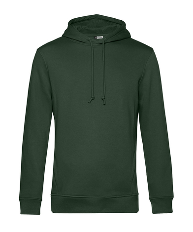 B&C Organic Hoodie In Forest Green