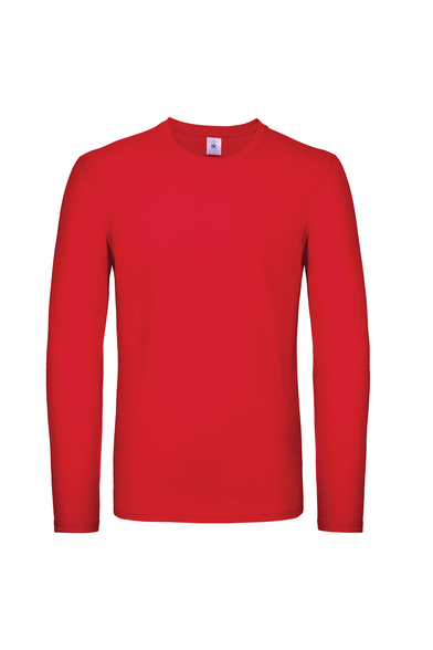 B&C #E150 Long Sleeve In Red