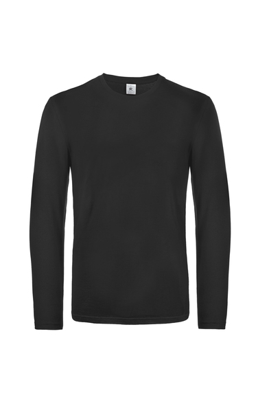 B&C #E190 Long Sleeve In Black