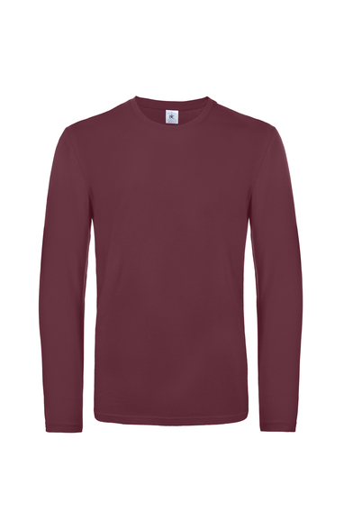 B&C #E190 Long Sleeve In Burgundy
