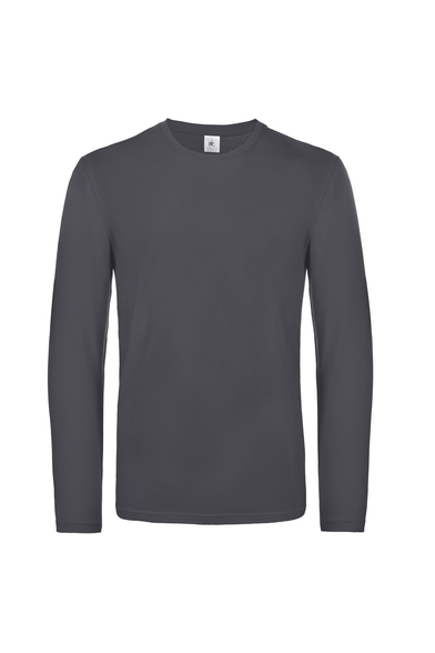B&C #E190 Long Sleeve In Dark Grey