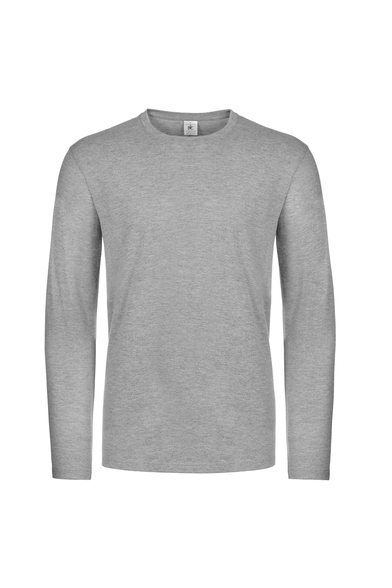 B&C #E190 Long Sleeve In Sport Grey