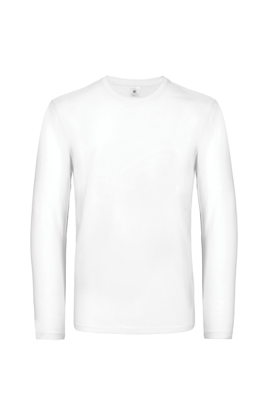 B&C #E190 Long Sleeve In White