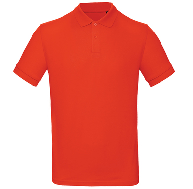 B&C Inspire Polo /men In Fire Red*