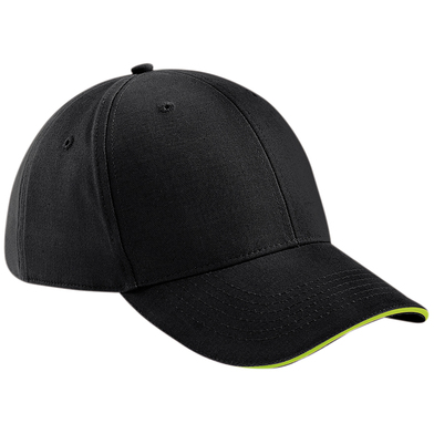 Athleisure 6-panel Cap In Black/Lime Green