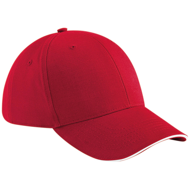 Athleisure 6-panel Cap In Classic Red/White