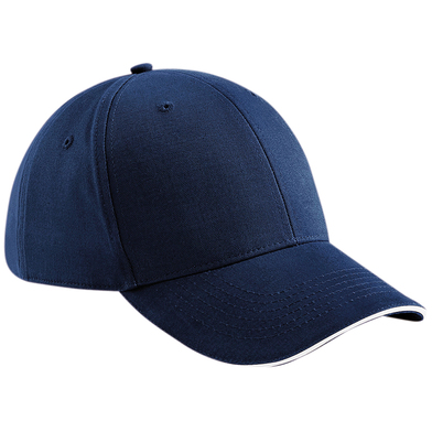 Athleisure 6-panel Cap In French Navy/White