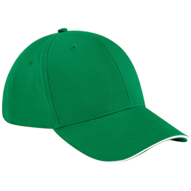 Athleisure 6-panel Cap In Kelly Green/White