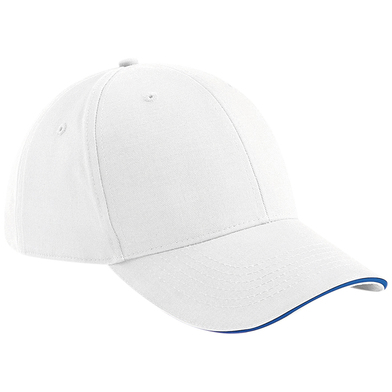 Athleisure 6-panel Cap In White/Bright Royal
