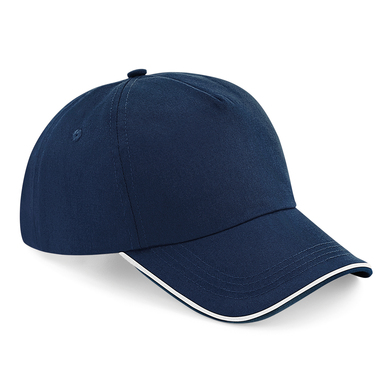Authentic 5-panel Cap - Piped Peak In French Navy/White