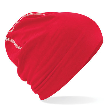 Hemsedal Cotton Beanie In Classic Red/White