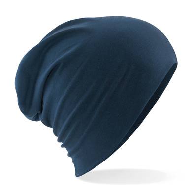 Hemsedal Cotton Slouch Beanie In French Navy