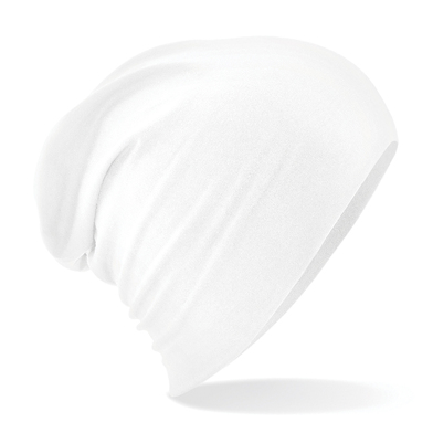 Hemsedal Cotton Slouch Beanie In White