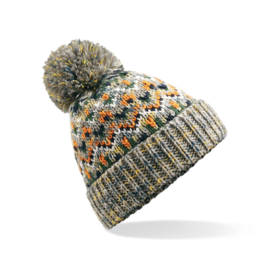 Blizzard Bobble Beanie In Forager Fusion