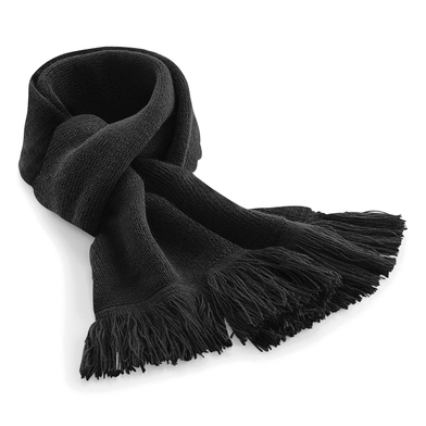 Classic Knitted Scarf In Black