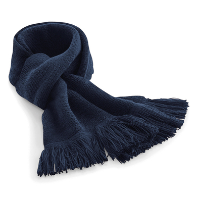 Classic Knitted Scarf In French Navy