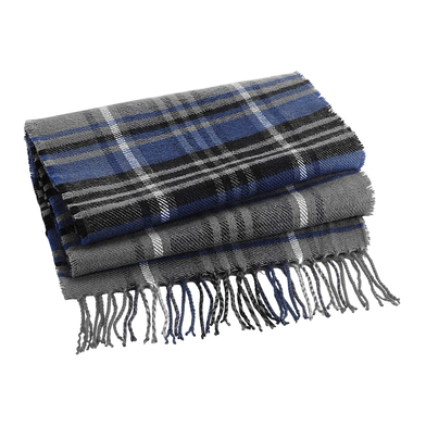 Classic Check Scarf In Grey Check