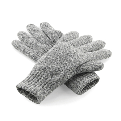 Classic Thinsulate Gloves In Heather Grey