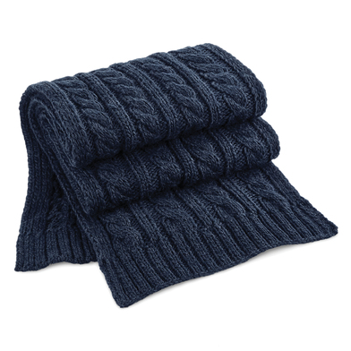 Beechfield - Cable Knit Melange Scarf