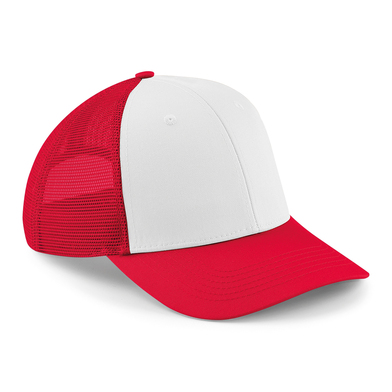 6-panel Snapback Trucker In Classic Red/White