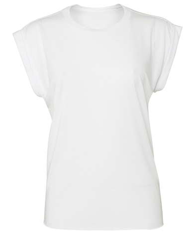 Bella Canvas - Women's Flowy Muscle Tee With Rolled Cuff