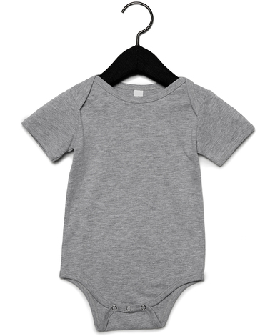 Baby Jersey Short Sleeve One Piece In Athletic Heather